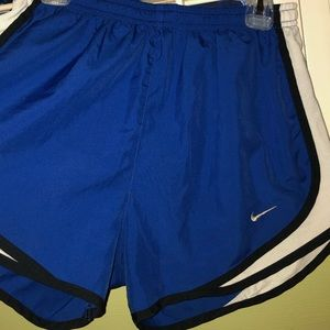 Blue and white Nike shorts- great condition